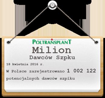 Milion dawców szpiku w Polsce